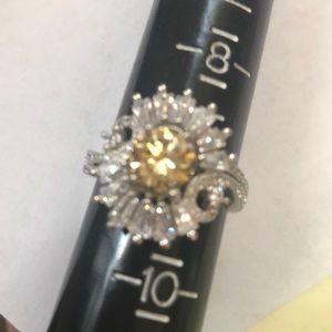 2.50 carat 925 Moissanite Ring Size 9